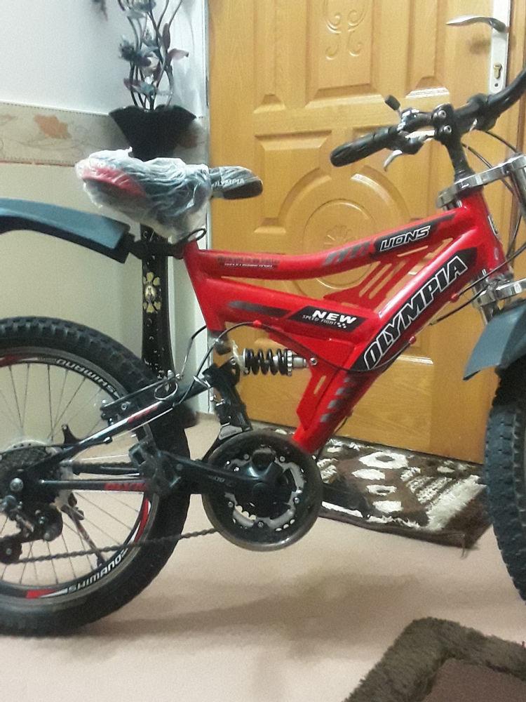 دوچرخه سایز ۲۰ دنده ای کمک فنر استیل جلو وکمک عقب