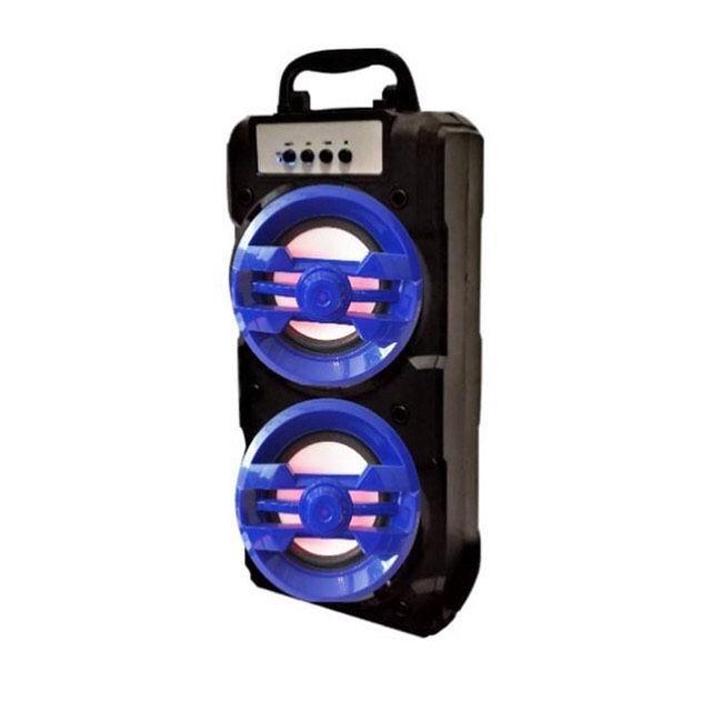 اسپیکر شاپ  اسپیکر چمدانی با رقص نور عالی قابلیت اتصال به رم فلش و بلوتوث کابل a u x رادیو