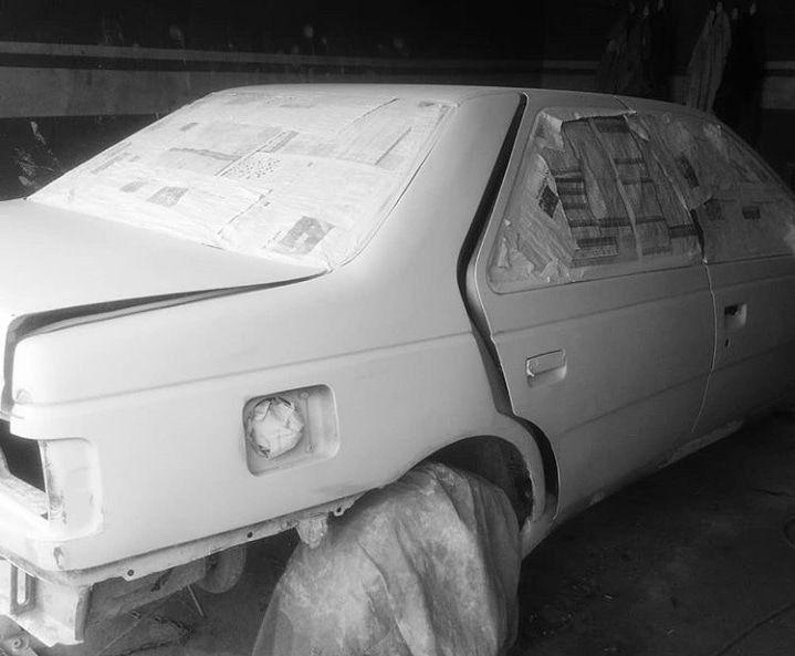صافکاری نقاشی وپولیش خودروبادستگاه نقاشی ماشین خسرونژاد پولیش با دستگاه