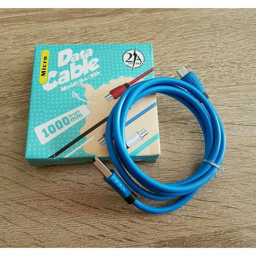 موبایل نوین کابل شارژ اندروید فست و دیتا در ۴ رنگ  مشکی سفید قرمز آبی کیفیت شارژ عالی